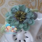 Mint Baby Girl Flower Headb..