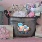 Baby Girl Gift Basket Set,..