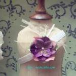 Purple Baby Flower Headband..
