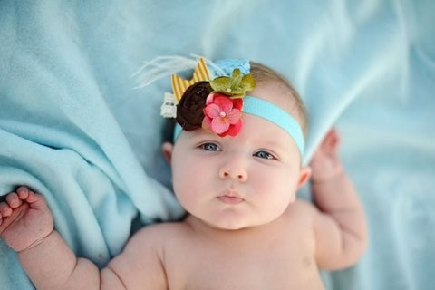 Baby Headband - Flower Headband - Headbands - Silk Rosette - The Ella : Customizable Colors and Flowers