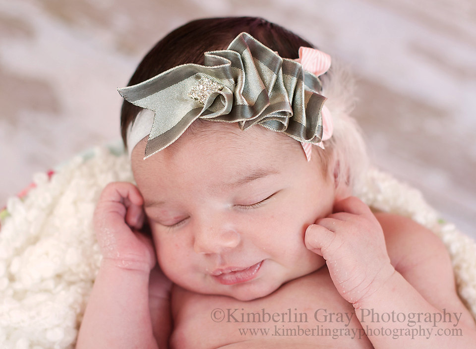 Grey Headband, Baby Flower Headband, Riuffle Headband, Silver Headbands, Big Girl Headband, Newborn Headband, Infant Headband