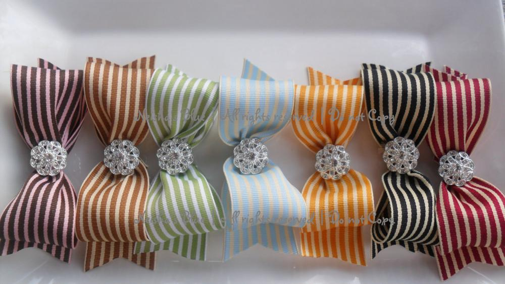 Introductory Price Pick TWO Giverny Ribbon Bows, Simple Beauty and Elegance Spring 2011 Collection Choose Ribbon or Headband