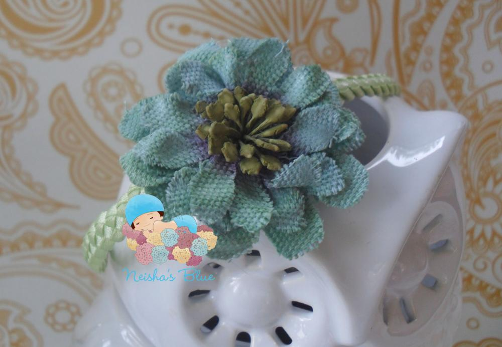 Mint Baby Girl Flower Headband, Light Green Flower Headbands, Headbands, Photo Prop, Halo