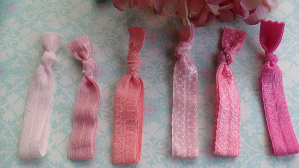 Pony Tail Ties Pretty me Pink: All pretty shades of pink
