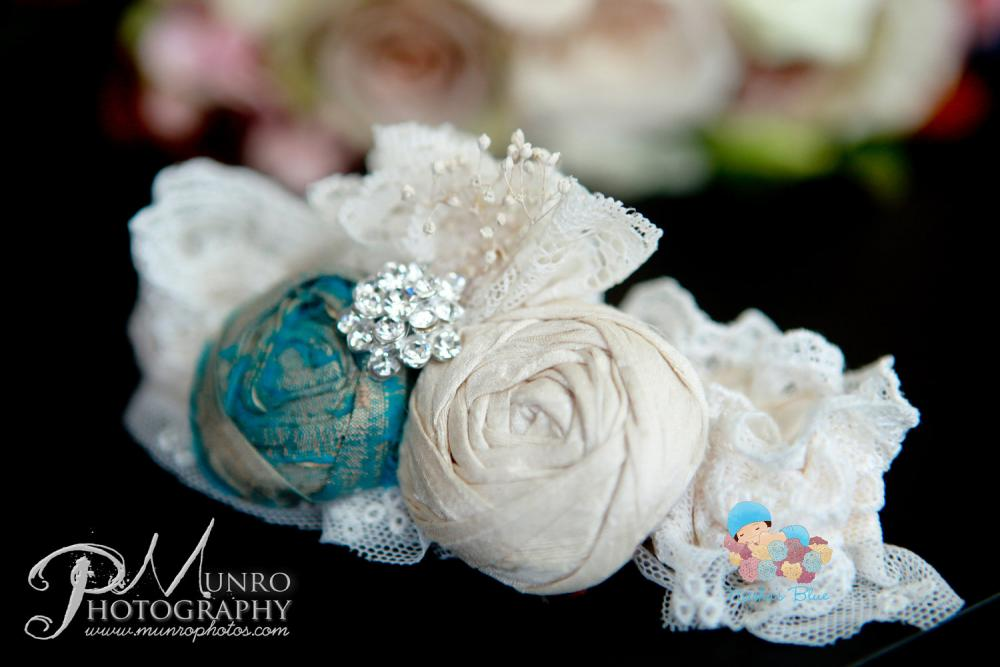 Wedding Garter, Garter, Bridal Accessories, Silk Wedding Garter, Rosebud Garter, Rosette Garter, Antique Golden Blue and Cream