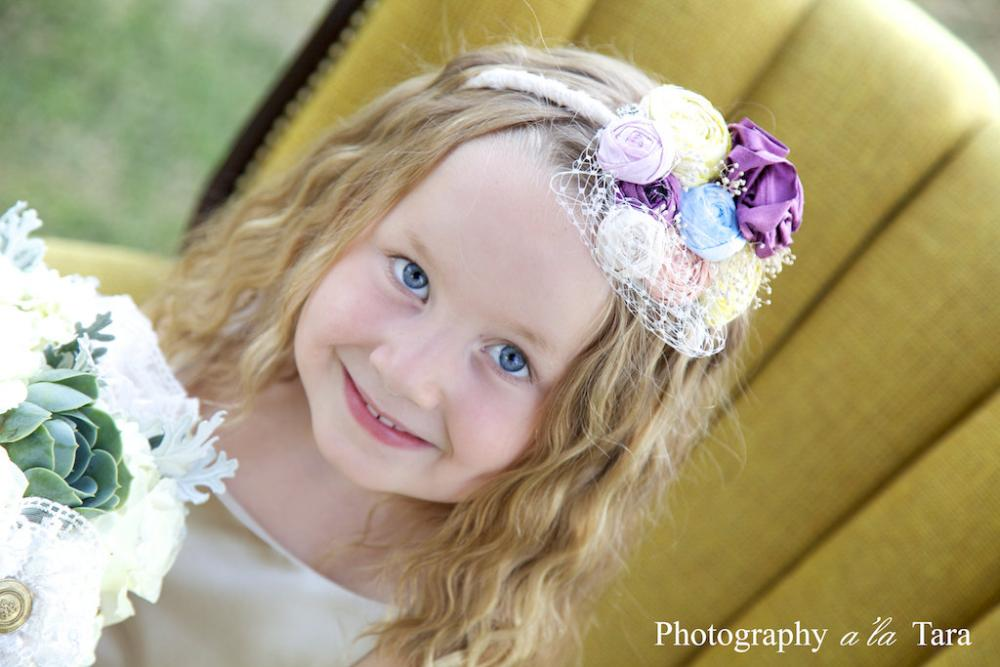 Wedding Flower Girl Headband, Flower Girl Headbands, Bridal Head piece, Bridal Party Flower Girl Headbands