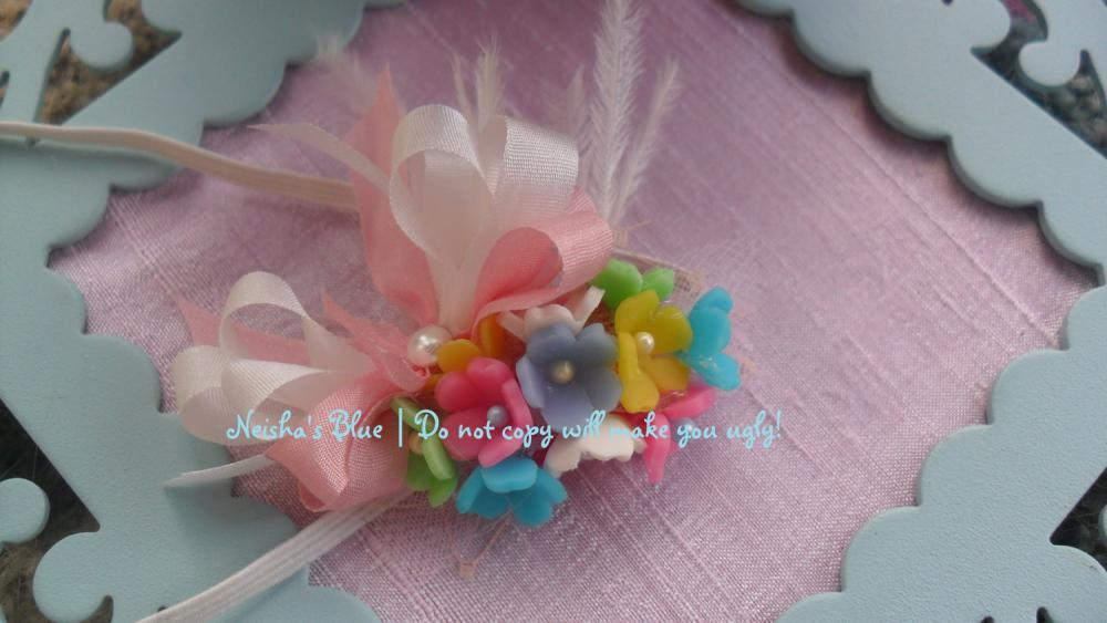 Spring Baby Girl Flower Headband, Baby Flower Headbands, Forget me Not Bloom