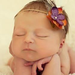 Headbands, Baby Flower Headband, Fall Headband, Baby Girl Headbands, Purple Orange and Green Headband
